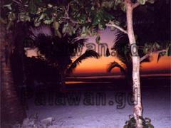 Rote Abendsonne auf Coco Loco