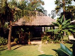 Im Garten des Hotels Casa Linda